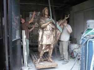 Talma statue in production
